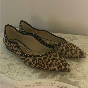 Sam Edelman Leopard Calf Hair Ballet Flat